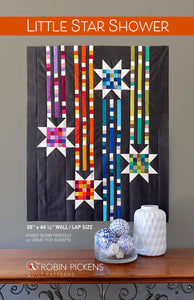 LITTLE STAR SHOWER Quilt Pattern Printed Booklet WALL/LAP Quilt 38 x 44 1/2""