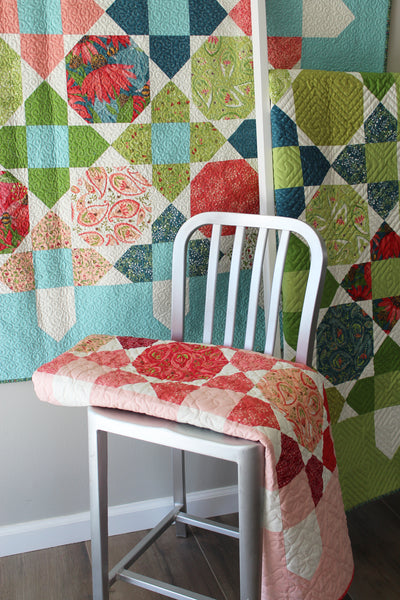 Quilt Pattern of PICKET (printed booklet) by Robin Pickens - Large or Lap, Fat Quarters or Layer Cake Precuts