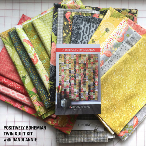POSITIVELY BOHEMIAN QUILT KIT - Twin Size in Dandi Annie fabrics