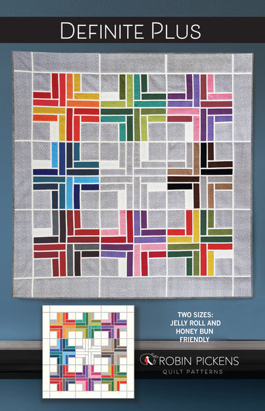 DEFINITE PLUS digital PDF Quilt Pattern by Robin Pickens, Jelly Roll and Honey Bun friendly