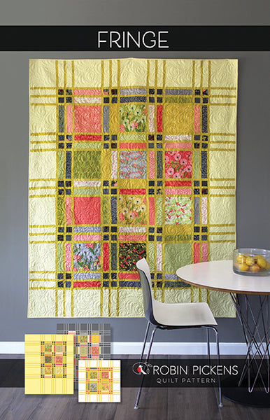 FRINGE Digital PDF Quilt Pattern by Robin Pickens / Twin and Lap/Wall easy quilt
