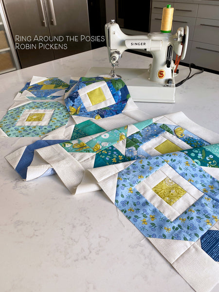 RING AROUND THE POSIES Quilt Pattern, PRINTED booklet
