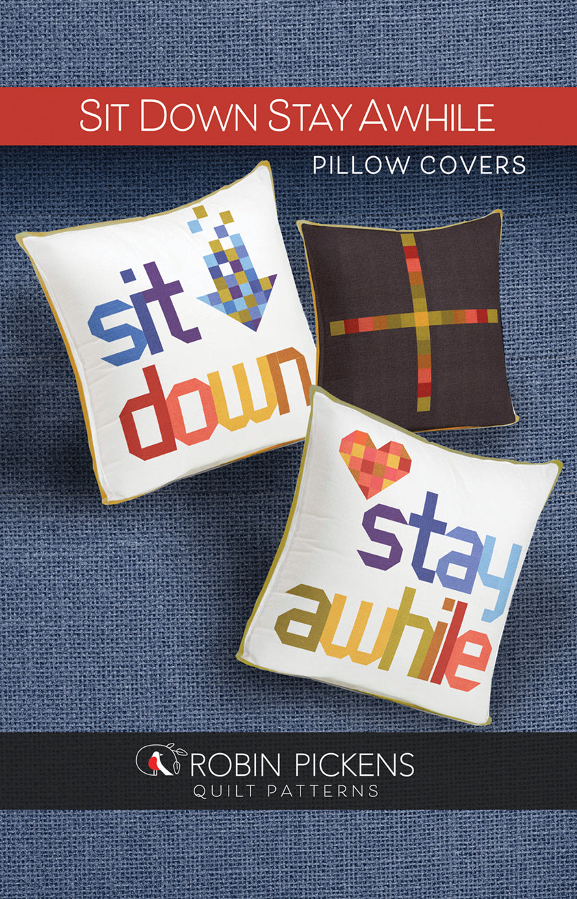 Sit Down Stay Awhile Pillow Covers, Printed Pattern