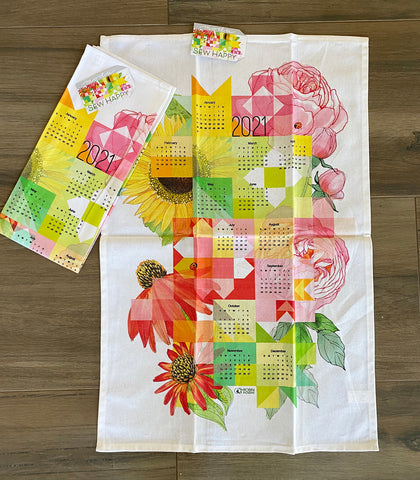 Sew Happy 2021 Calendar Tea Towel