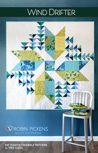 Wind Drifter Quilt Pattern- 2 sizes, Printed Booklet