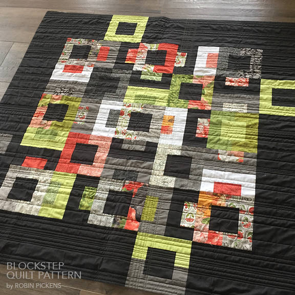 Quilt Pattern (printed booklet) of BLOCKSTEP Quilt by Robin Pickens/Layer Cake or Jelly Roll friendly/Queen, Twin, Wall sizes