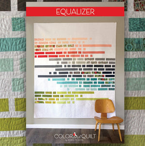 "Quilt Pattern Equalizer (digital downloadable pdf)- by Robin Pickens /layer cake jelly roll precut/ easy modern quilt/full-double 76"" x 85"""