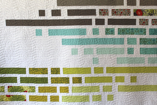 "Equalizer Digital PDF Quilt Pattern by Robin Pickens /layer cake jelly roll precut/ easy modern quilt/full-double 76"" x 85"""