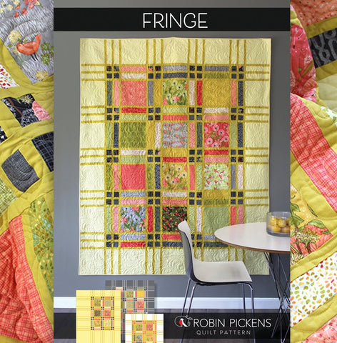 Quilt Pattern (printed booklet) of FRINGE Quilt by Robin Pickens / Twin and Lap/Wall easy quilt