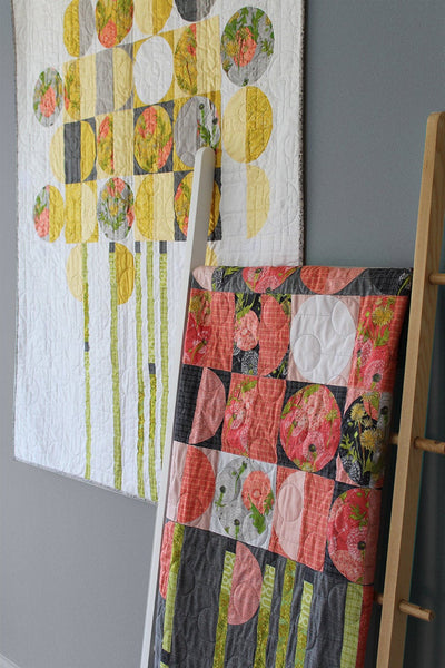 TOWARDS THE SUN Quilt Pattern (printed booklet) by Robin Pickens/ wall quilt/ modern circles quilt /pieced or applique