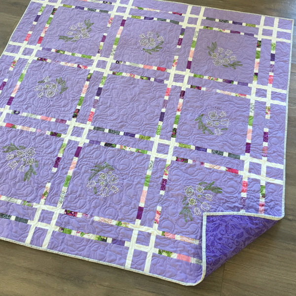 DASHINGLY DIVIDED w/ Embroidery, Digital PDF Quilt Pattern by Robin Pickens / Charm Pack, Mini Charm, precut