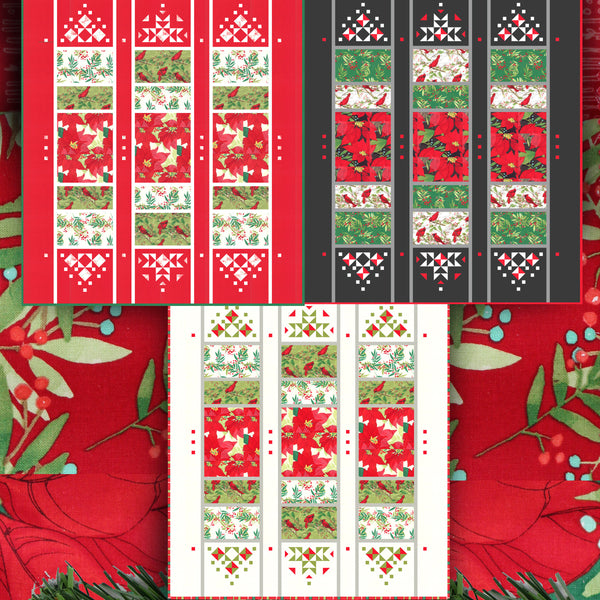 JUBILANT SONG PDF Quilt Pattern (Digital) by Robin Pickens- Christmas or Elegant Lap Quilt