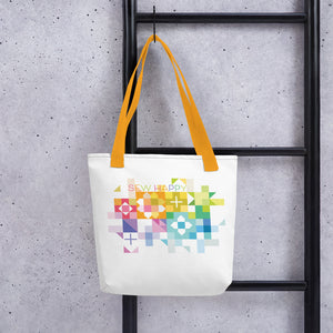 SEW HAPPY Rainbow Blocks Tote bag