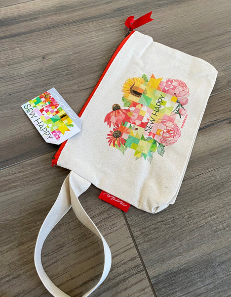 Sew Happy Zipper Pouch