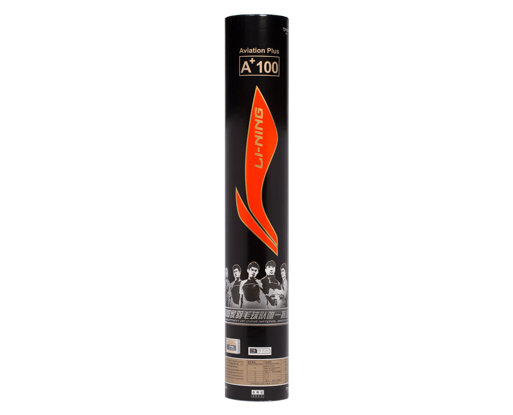 LI-NING A+100 BADMINTON SHUTTLECOCKS SINGLE TUBE