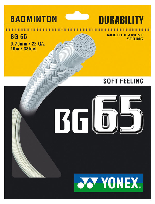 Yonex BG65 String 0.70mm Badminton Strings