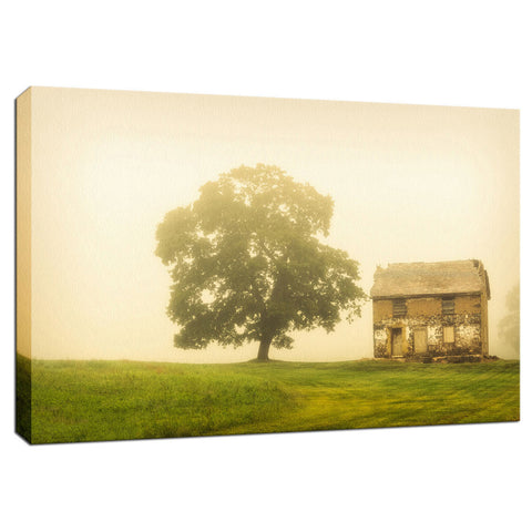 Abandoned House Rural Landscape Photo Fine Art Canvas Wall Art Prints
