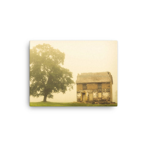 Abandoned House on Adams Dam Rd Rural Landscape Canvas Wall Art Prints
