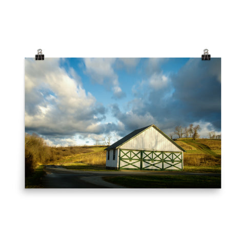 Aging Barn in the Morning Sun Traditional Color Loose Wall Art Prints