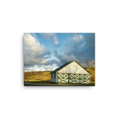 Aging Barn in the Morning Sun Traditional Color Canvas Wall Art Prints