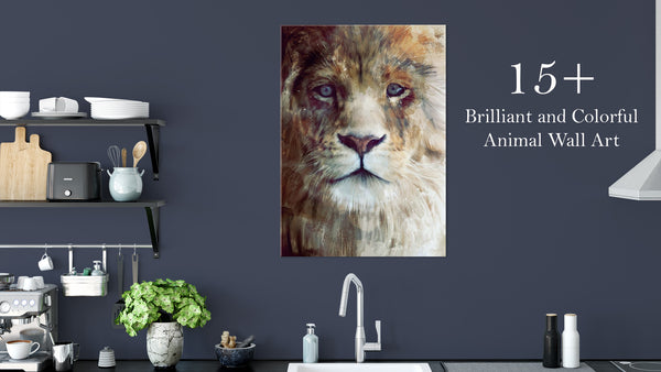 15+ Brilliant and Colorful Animal Wall Art Prints