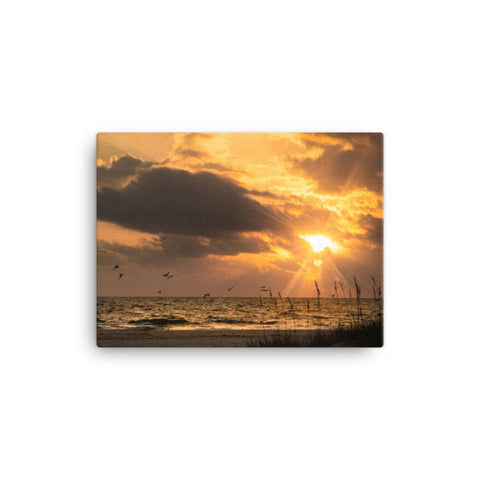 Anna Maria Island Cloudy Beach Sunset 1 Canvas Wall Art Prints