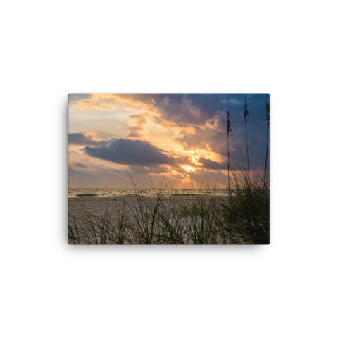 Anna Maria Island Cloudy Beach Sunset 2 Canvas Wall Art Prints