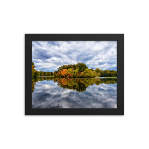 Autumn Reflections Rural Landscape Framed Photo Paper Wall Art Prints