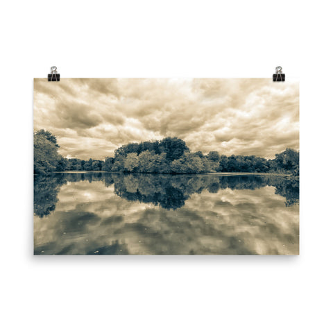 Autumn Reflections Split Tone Loose Wall Art Prints