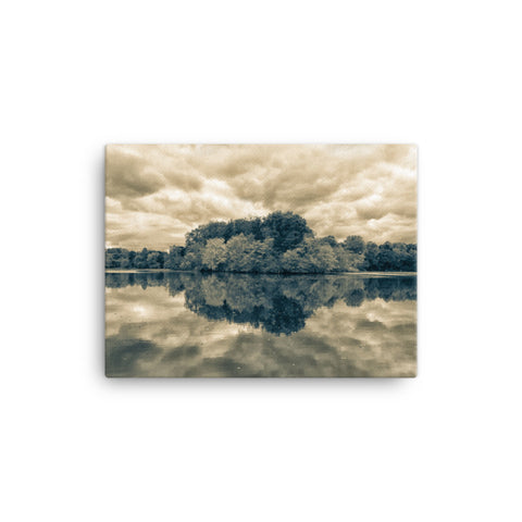 Autumn Reflections Split Tone Rural Landscape Canvas Wall Art Prints