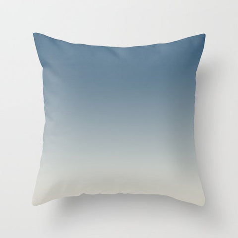 Blue & Linen White Gradient Ombre Blend Pairs To 2020 Color of the Year Chinese Porcelain PPG1160-6 Throw Pillow