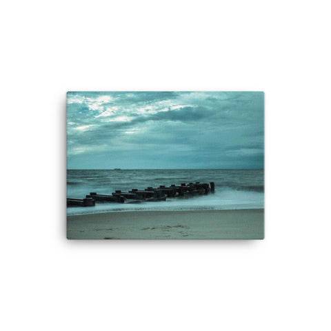 Blue Morning at Rehoboth Coastal Landscape Canvas Wall Art Prints