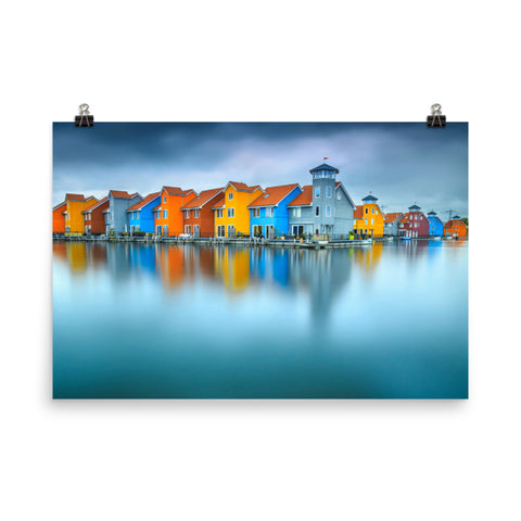 Blue Morning at Waters Edge Landscape Photo Loose Wall Art Prints
