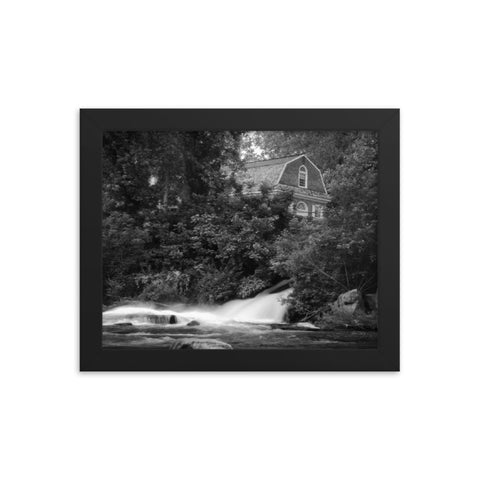 Brandywine River and First Presbyterian Church Black & White Framed Photo Paper Wall Art Prints