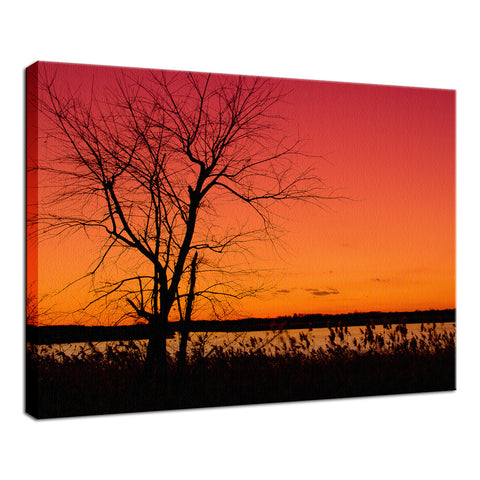 Burning Skies Rural Landscape Photograph Fine Art Canvas Wall Art Prints