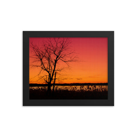 Burning Skies Rural Landscape Framed Photo Paper Wall Art Prints
