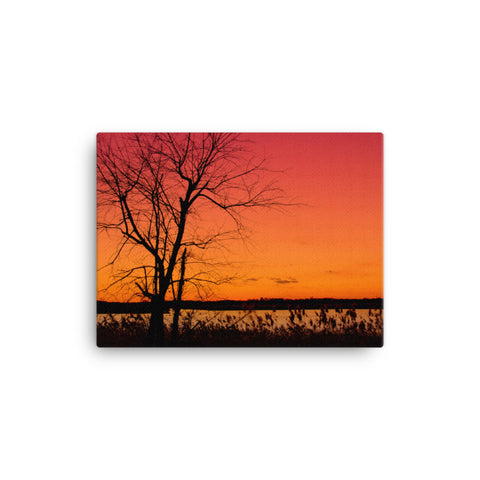 Burning Skies Rural Landscape Canvas Wall Art Prints