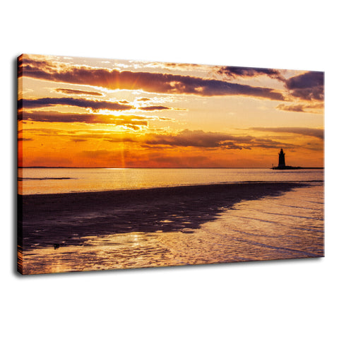 Cape Henlopen at Sunset Coastal Landscape Fine Art Canvas Wall Art Prints
