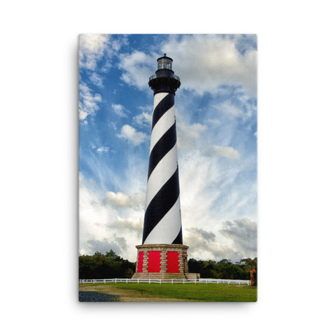 Cape Hatteras Lighthouse Coastal Landscape Canvas Wall Art Prints