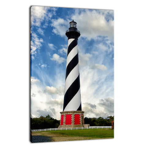Cape Hatteras Lighthouse Coastal Landscape Photo Fine Art Canvas Wall Art Prints