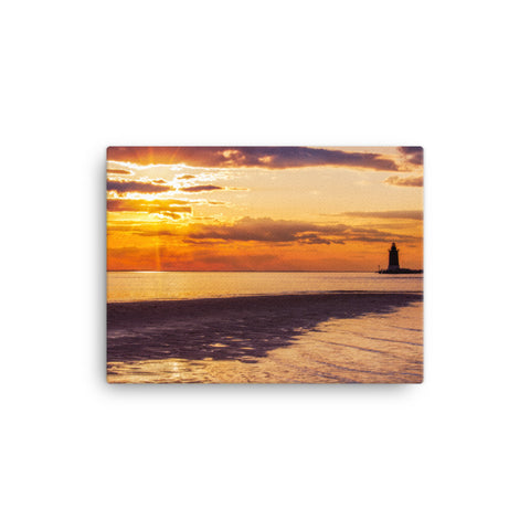 Cape Henlopen Sunset Coastal Landscape Canvas Wall Art Prints