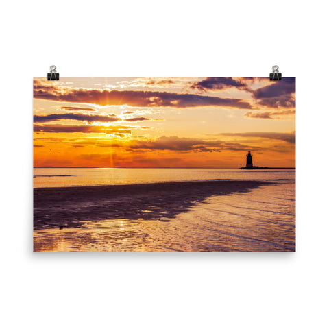 Cape Henlopen Sunset Coastal Landscape Photo Loose Wall Art Prints