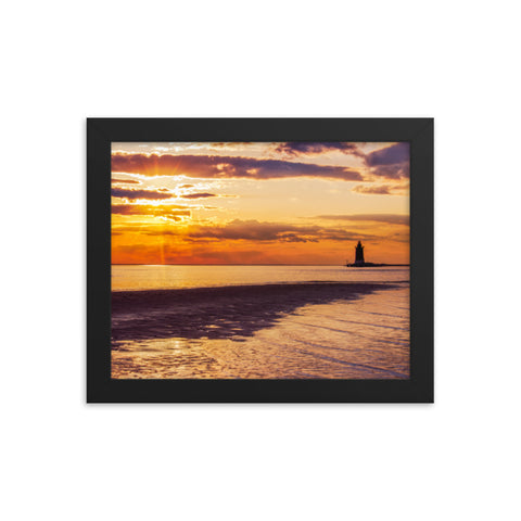 Cape Henlopen at Sunset Coastal Landscape Framed Photo Paper Wall Art Prints