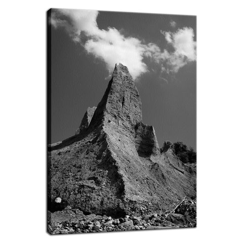 Chimney Bluff Black and White Rural Landscape Fine Art Canvas Wall Art Prints