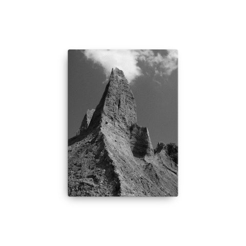 Chimney Bluff in Black and White Rural Landscape Canvas Wall Art Prints
