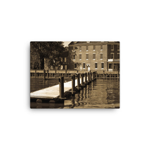 Delaware City Dock Coastal Landscape Canvas Wall Art Prints