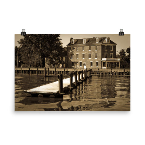 Delaware City Dock Coastal Landscape Framed Photo Paper Wall Art Prints