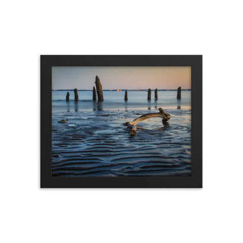 Driftwood And Sandbars Coastal Landscape Framed Photo Paper Wall Art Prints