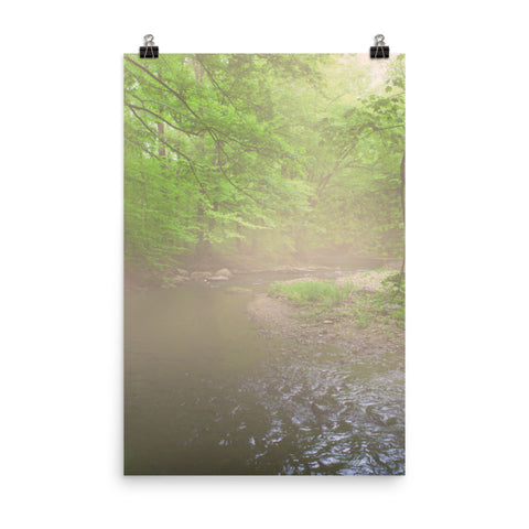 Early Morning Fog on the River Landscape Photo Loose Wall Art Print