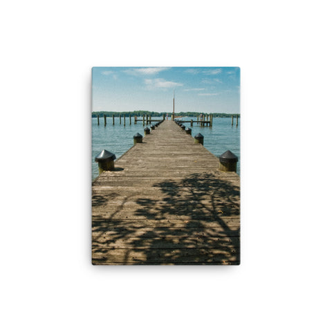 Endless Dock Coastal Landscape Canvas Wall Art Prints